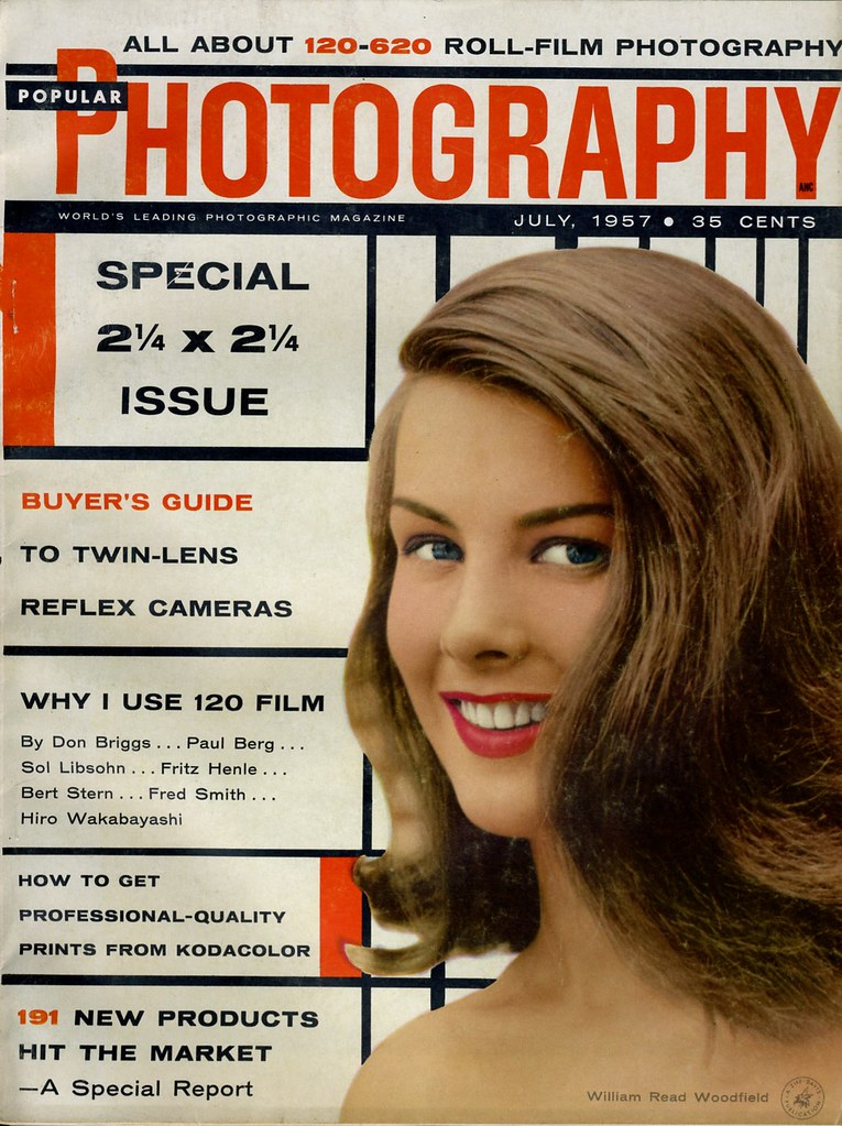 Popular Photography July 1957 cover