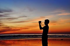Black's Beach Sunset (kingdomany) Tags: ocean sunset red sea sky color beach photography seaside nikon flickr pacific dusk blacks seashore d90 colorphotoaward