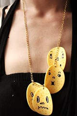 chips (Papuzzini Smellow) Tags: ecology necklace funny handmade milano crafts chips gifts fantasy gift pendant reutilization smellow papuzzini