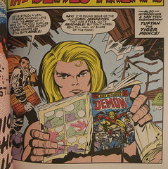 random: Kamandi reads Etrigan (semihundido) Tags: comics comicbooks 60mm ricoh jackkirby kamandi 2011 thelastboyonearth kamandiomnibus