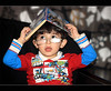 (ll.dyala.ll) Tags: camera portrait sunglasses canon 50mm book child 50 ahmed 500d a7mad احمد 2011 الموديل مم عدسه dyala المصوره ديالا