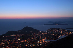 Dubrovnik at Night (Abizeleth) Tags: sunset lights evening twilight dusk streetlights croatia fromabove dubrovnik adriaticsea dalmatiancoast lapad babinkuk elaphiteislands sr