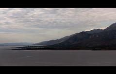 Breathtaking. (LaPanteraRosa.) Tags: sea sun reflection highway meer europe croatia more zadar tenger fromthecar adria jadransko sigma1770 panoramacrop sonyalpha700