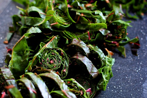 Preparing Swiss Chard Salad