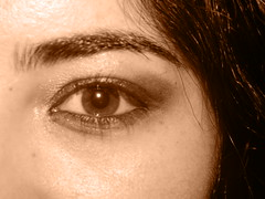 Magnolia (AmineAleo) Tags: africa abstract flower eye girl beauty sepia centre north oeil yeux morocco maroc magnolia sortie soir fille glance ville nord moroccan rabat regard magie afrique brow sourcil marocaine cleareance