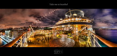 Take me to Istanbul (HDR Panorama) (farbspiel) Tags: ocean cruise sea panorama water night clouds photoshop turkey geotagged nikon ship tripod wideangle istanbul tur stitching nikkor stitched dri hdr hdri topaz adjust infocus postprocessing 18200mm photomatix denoise d7000 nikonafsdxnikkor18200mm13556gedvr geo:lat=4102320064 geo:lon=2897935867