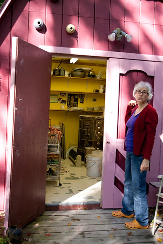 Studio Tour Local Ceramicist In Her Shed Turned Studio