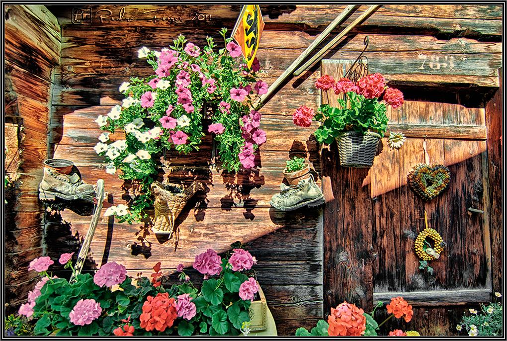 Suiza - Pueblos con encanto - Gimmelwald - Botas-maceta
