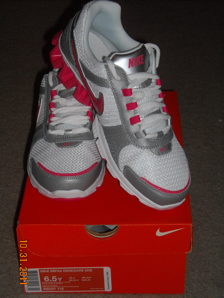 Nike Impax Renegade (GS) Kids Youth White/Gray With Pink SHoes