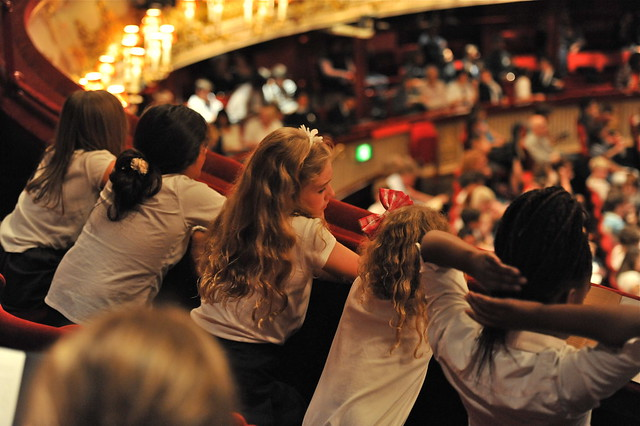 Pupils watch a Taylor Family Foundation Schools' Matinee performance © ROH 2010