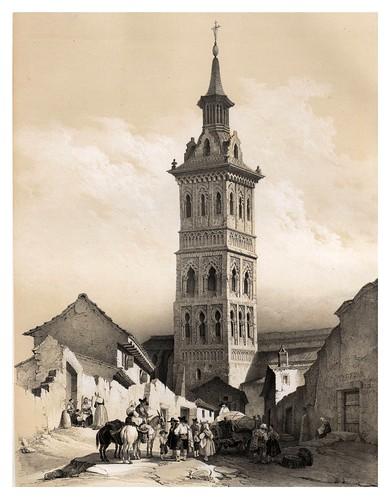 013-Torre de Santa Maria de Illescas-España artística y monumental..Tomo II- 1842-1850-Genaro Perez de Villa-Amil
