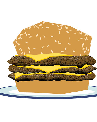 burger - speed drawing