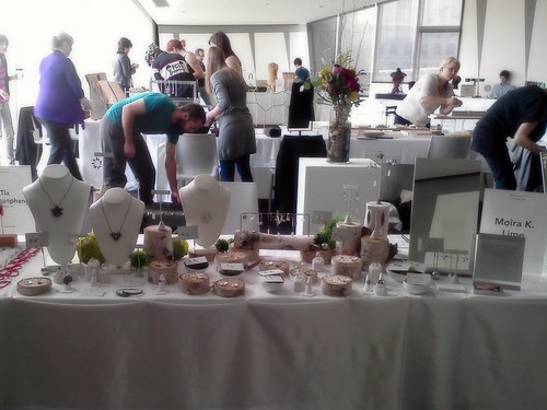 My little set up at the Jewelry Mart