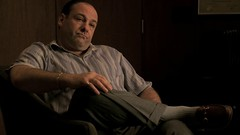 James Gandolfini - brown horsebit loafers (TBTAOTW2011) Tags: brown man leather shoe james sitting beefy tony soprano loafers loafer gandolfini
