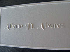 Alberto Alvarez Embossed Cards