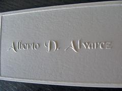 Alberto Alvarez Embossed Cards