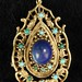 4060. 14KT Lapis and Turquoise Pendant/Brooch