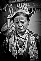 portrait of a woman with typical costumes to ladakh festival, leh, ladakh, north india (anthony pappone photography) Tags: costumes portrait woman india festival canon valley leh ladakh northindia