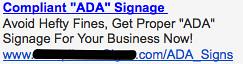 Ad #2 - ADA Signs