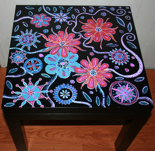 "Garden Table 22"" x 22"" x 18"" by Rick Cheadle Art and Designs"