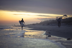 East Coast livin (mm_iskra) Tags: ocean sunset beach surfer southcarolina 5d hiltonhead canon5dmkii
