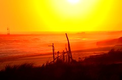 The Dunes and the sea (Darren-) Tags: ocean november sunset sea usa newyork color beach water fun sand waves longisland westhampton ringexcellence nikond5100