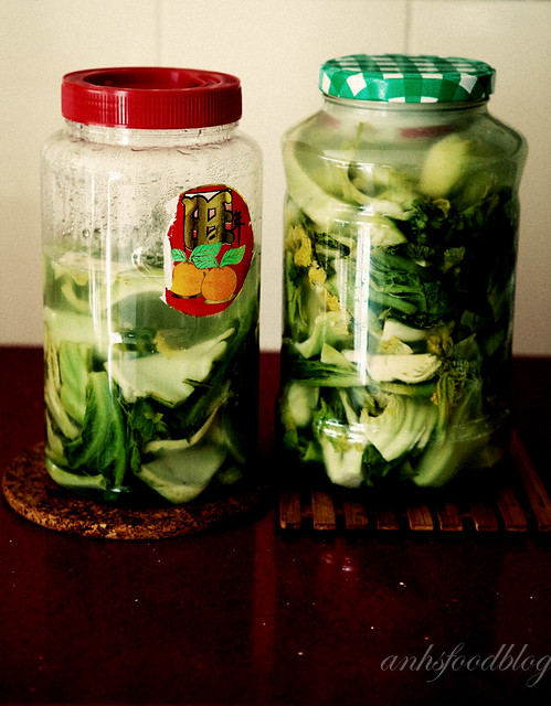 Vietnamese preserved mustard cabbage (dưa muối)