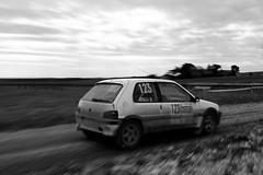 Sense of speed. (P A Photography) Tags: bw france les canon de photography eos noir pierre rally 123 voiture 106 terre p ruth panning ccile vignes ste chteau blanc franais peugeot voitures vaucluse arn cristaline 2011 a 60d
