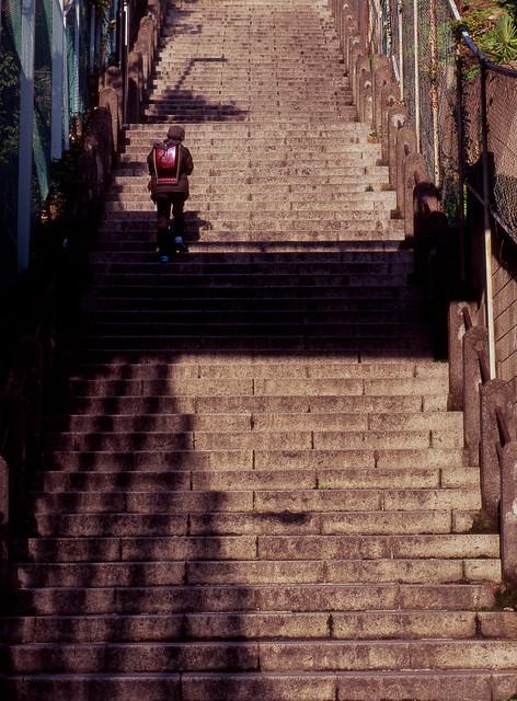台地の急階段