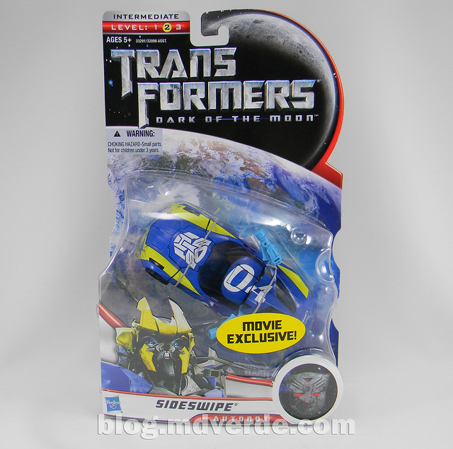 Transformers Sideswipe DotM Deluxe Walmart - caja