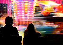 Giostra a Place des Fetes (zanbard) Tags: paris silhouette colore movimento giostra parigi mosso