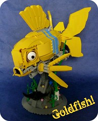 I'm A Goldfish! (Lino M) Tags: ocean sea fish water yellow goldfish lego competition submarine undersea lino builderslounge ironbuilder warbeasts