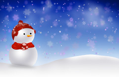 SnowMan Christmas Wallpaper (chiaralily) Tags: snowflake christmas xmas wallpaper snow hat illustration scarf photoshop festive snowman bokeh digitalart australia melbourne victoria card carrot merry celebrate greeting tutorial 10steps itsanaddiction abduzeedo chiaralily