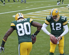 Aaron Rodgers and Donald Driver