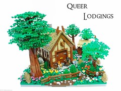 Queer Lodgings (Blake's Baericks) Tags: road bear horses plants house castle classic grass buildings town corn lego contest lord foliage lotr rings journey ccc blake hobbit bilbo dwarves goblins baer boern