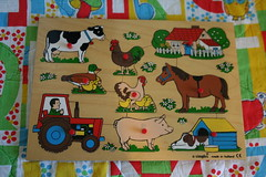 Vintage Simplex Farm Puzzle (honor) Tags: horse dog baby house tractor eye classic chicken vintage children toy pig cow wooden duck kid toddler hand farm fine ducklings skills puzzle chicks rooster motor preschool hen coordination simplex etsyveg