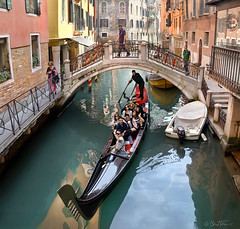 Venetian Lifestyle (Ben Heine) Tags: hello life voyage old city travel venice houses friends sea people italy music orange reflection art tourism window beauty yellow architecture stairs composition speed happy photography living colorful europe italia pavement walk turquoise group perspective samsung romance lovers sharp adventure crisp travail pont romantic gondola imaging trio quatro tradition bateau past job hardwork fentre bonheur renaissance ville sinking faade rhythm gondolier globalwarming trottoir balustrade middleage vitesse waterscape smallboat gondole heureux passerelle smallbridge antoniovivaldi benheine venetianlifestyle