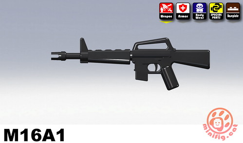 Custom minifig SWAT-M16A1