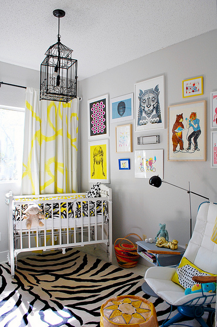 Nusery of design-crisis - 1, Nursery Room Home Ideas in Black and Yellow