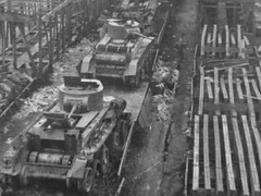 1941. Destroyed Red Army BT-7 tanks after German bombardment of railway station. (vostok71) Tags: bw history germany war tank ww2 destroyed 1941 tanks ussr bt7 vostok71