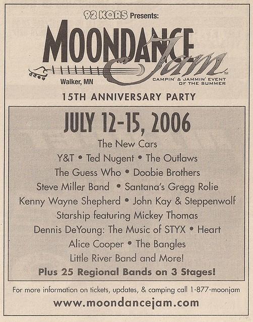 07/12 - 15/06 Moondance Jam 15 @ Walker, MN