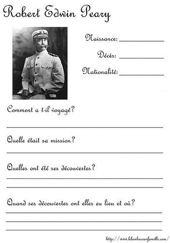 questionnaire explorateurs Robert Edwin Peary AAAAAAAAAAAAAAAA