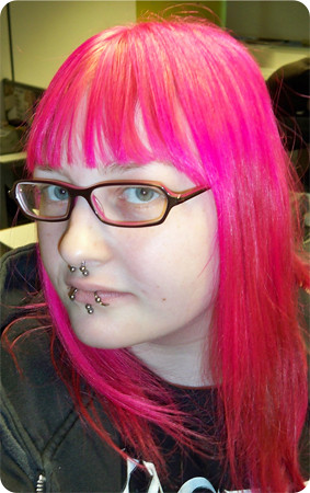 Hairstyle 3 - Dyed Pink
