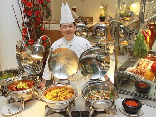 Chef William with his signature creations