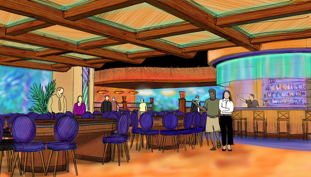 Interior Casino Design | Conceptual Casino Rendering | Casino Decor Design | Themed Casino Design | Island Breeze Casino