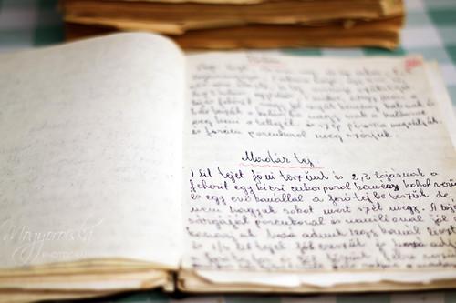 [13/365] My grandma's old recipe book / Nagymamám régi receptes füzete