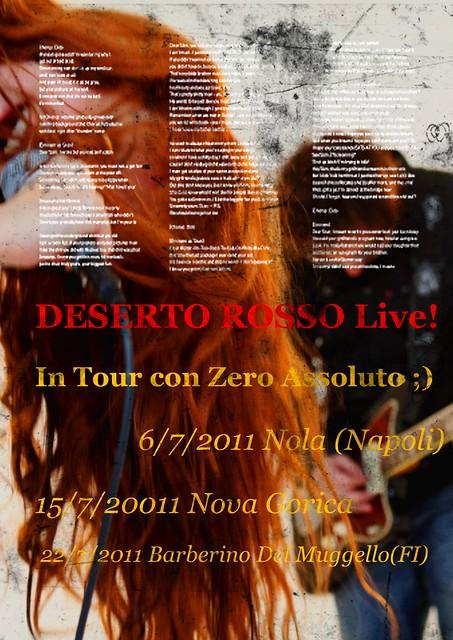 Flyer Tour Luglio 2011 DESERTO OSSO