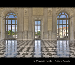 La Venaria Reale - Galleria Grande (beppeverge) Tags: light italy color green canon geotagged torino photography eos photo europe italia ph