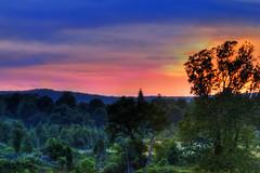 Sunset in the Valley (Moniza*) Tags: sunset sky sun mountain nature silhouette clouds sunrise landscape dawn newjersey twilight nikon dusk nj valley augusta bluehour d90 sussexcounty moniza