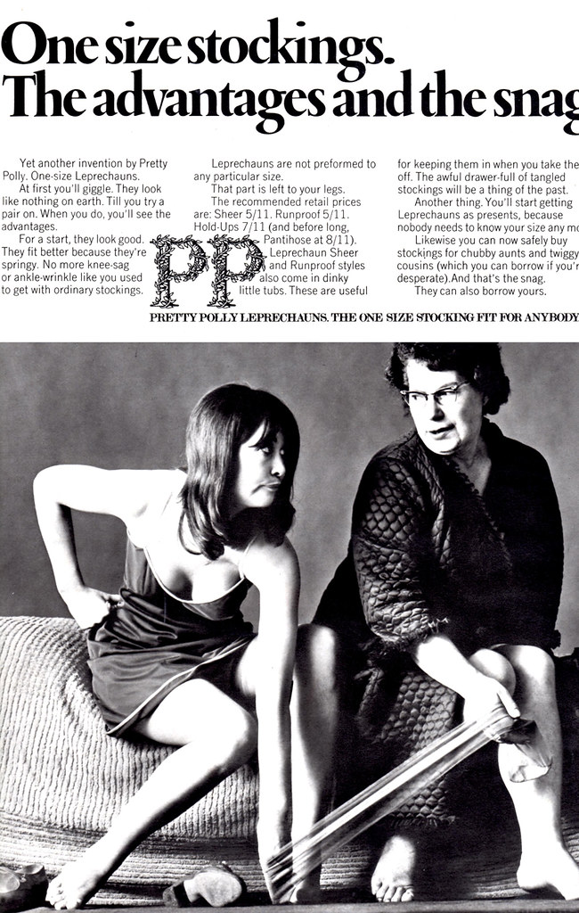 1960s Advert for Pretty Polly Stockings